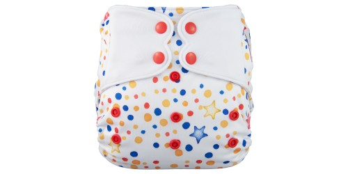 Elf diaper- Couche à poche-Ensemble de luxe- Stars-snap