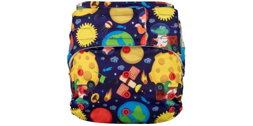 Elf diaper- Couche à poche-Ensemble de luxe- Up the sky-velcro