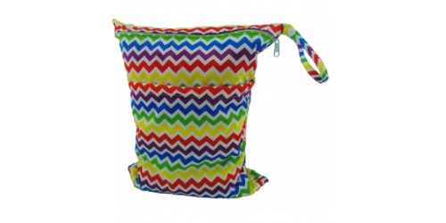 Sac de transport  double compartiment Alva- Chevron multicolor