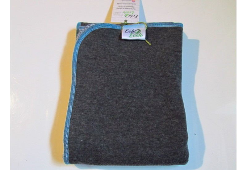 Couche plate double one size Echo Ecolo- Charcoal tour bleu