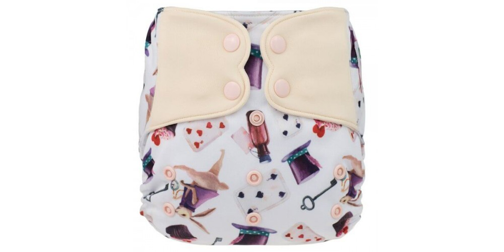 Elf diaper- Couche à poche-Ensemble de luxe- Alice-snap