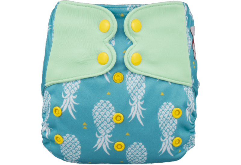 Elf diaper- Couche à poche-Ensemble de luxe- Pineapple-snap