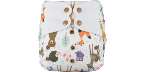 Elf diaper- Couche à poche-Ensemble de luxe- Sweet Friends-snap