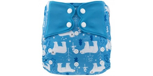 Elf diaper- Couche à poche-Ensemble de luxe- Antarctique-snap