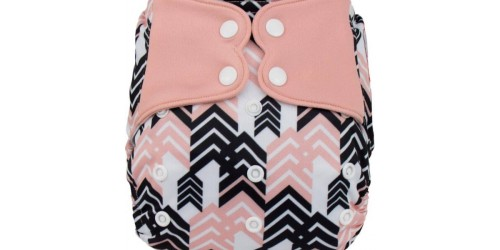Elf diaper- Couche à poche-Ensemble de luxe- black and pink-snap