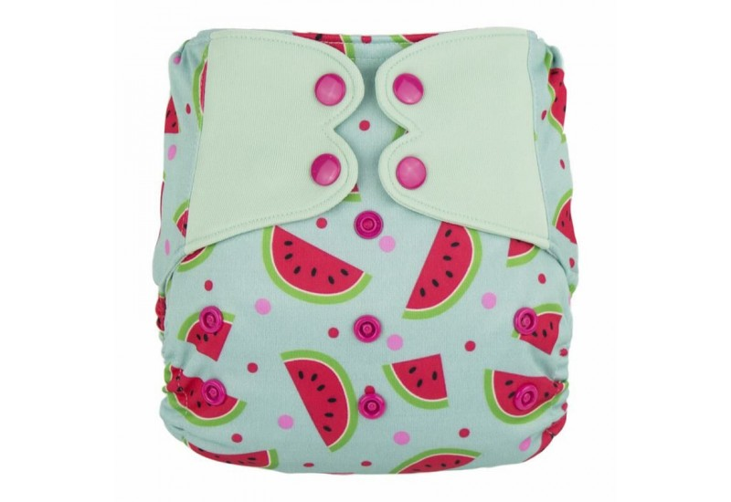 Elf diaper- Couche à poche-Ensemble de luxe- Melon-snap