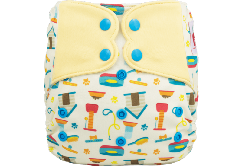 Elf diaper- Couche à poche-Ensemble de luxe- pet shop-snap