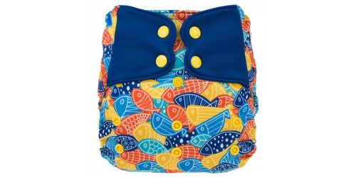 Elf diaper- Couche à poche-Ensemble de luxe- Candy fish-snap