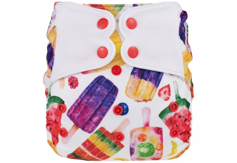 Elf diaper- Couche à poche-Ensemble de luxe- Popsicle-snap