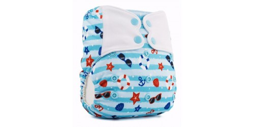 Elf diaper- Couche à poche-Ensemble de luxe- Summertime-snap