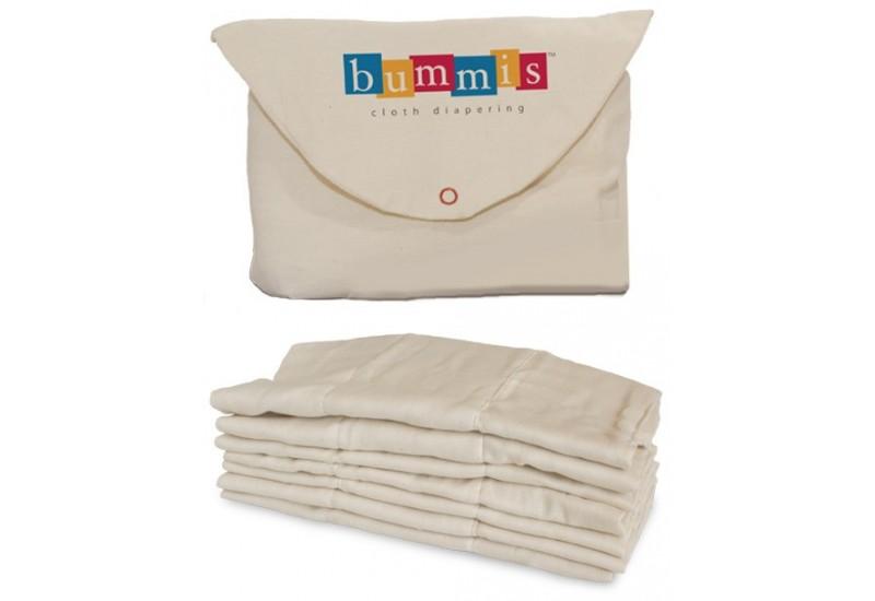 Inserts plat en coton biologique- Bummis- 4 à 9 livres- à l'unité