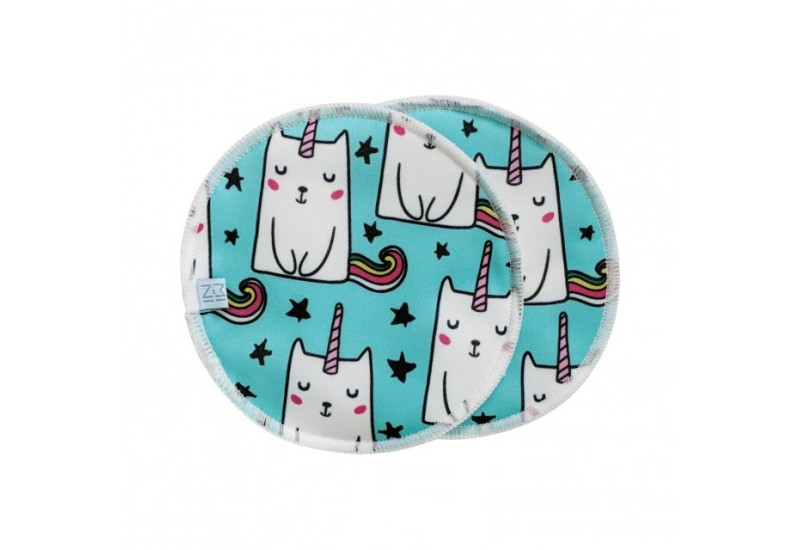 MiniHip ensemble de 2 compresses d'allaitement- Cat-Unicorn