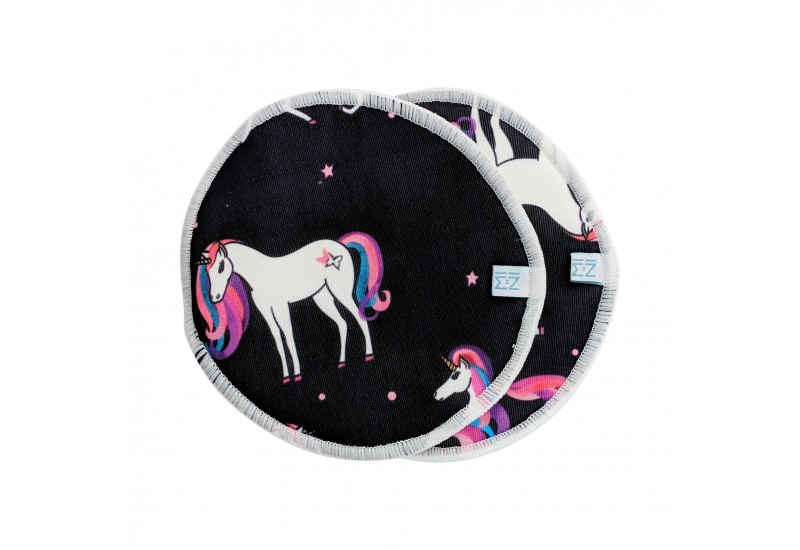MiniHip ensemble de 2 compresses d'allaitement- Dancing unicorn