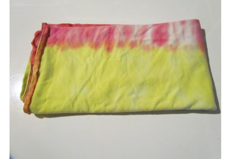 Couche plate- Format bébé- French terry bambou- Tie dye Jaune rose