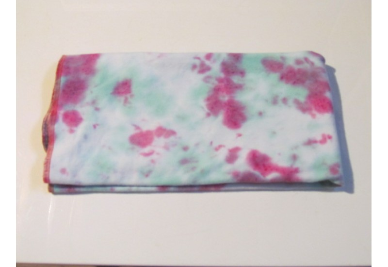 Couche plate- Format bébé- French terry bambou- Tie dye rose-vert