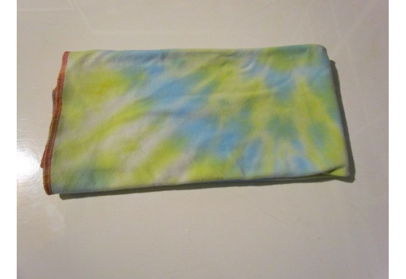 Couche plate- Format bébé- French terry bambou- Tie dye Jaune turquoise