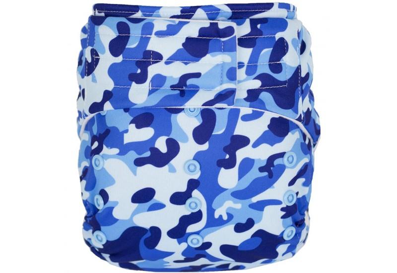 Elf diaper- Couche à poche-Ensemble de luxe- Kamo bleu-Velcro