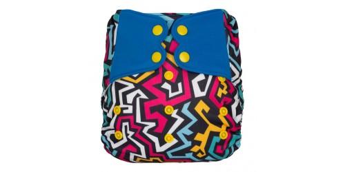 Elf diaper- Couvre-couche (TE2)- Zig zag-snap