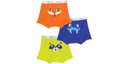 3 Boxer Zoocchini- Animaux 4t-5t (34-42 lbs)